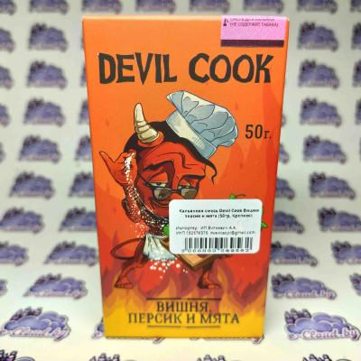 Смесь для кальяна Devil Cook - Вишня персик и мята - 50гр. купить