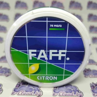 Купить жевательную смесь (снюс) Faff - Цитрон - 75мг/г. с доставкой в Минске и почтой по Беларуси.