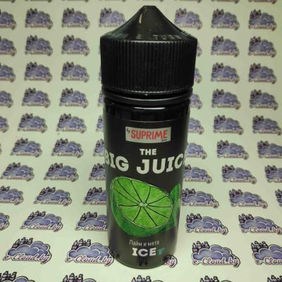 Купить жидкость для электронных парогенераторов Big Jjuice – Лайм и мята - 6мг/мл.